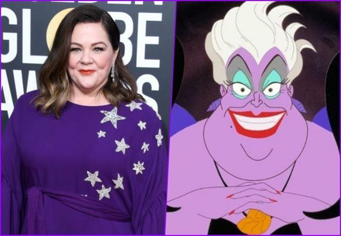 """Melissa McCarthy """"Küçük Deniz Kızı"""" canlı çekim uyarlamasında Ursula rolüne çok yakın"""