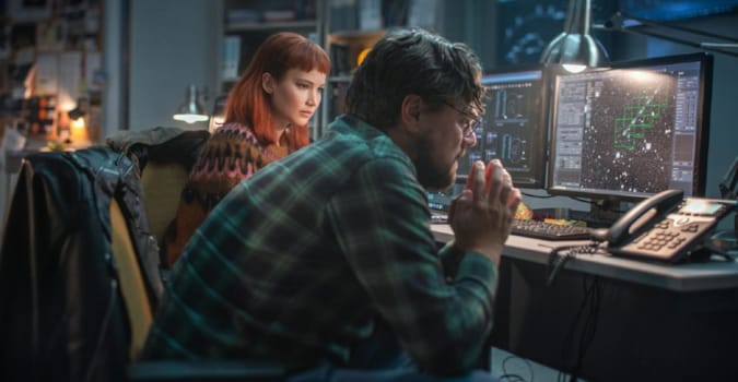 Jennifer Lawrence ve Leonardo DiCaprio'lu Don't Look Up'tan teaser yayınlandı