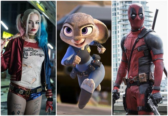 2016'nın dünya genelinde en çok hasılat elde eden 20 filmi