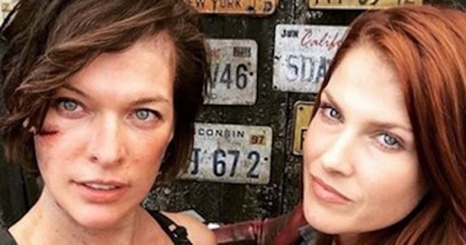 Milla Jovovich ve Ali Larter Resident Evil 6'da tekrar bir arada.